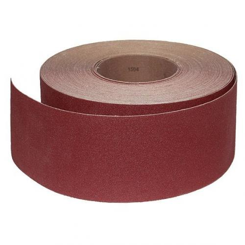 Abrasive Roll Cloth, backed 76 mm x 25 m standard - 120G