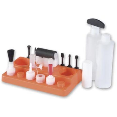 Liimaustarvikesarja - mm. liimalevitysrulla ja Domino-kärki