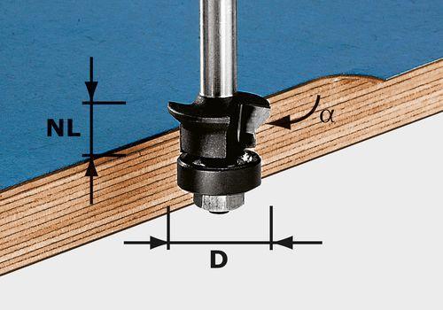 Festool - Viiste-/tasausjyrsin HW S8 D24/0° +45°