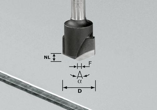 Festool - V-urajyrsin HW S8 D18-135°/Alu