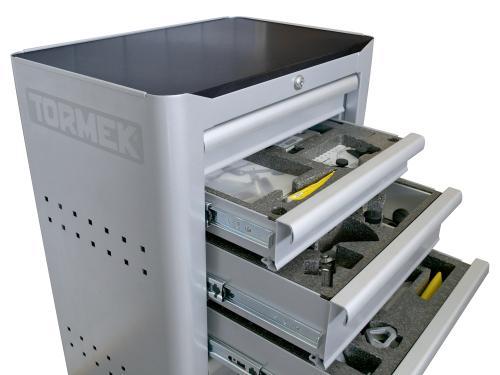 Teroitusasema 600x400x800mm 6-vetolaatikkoa TORMEK