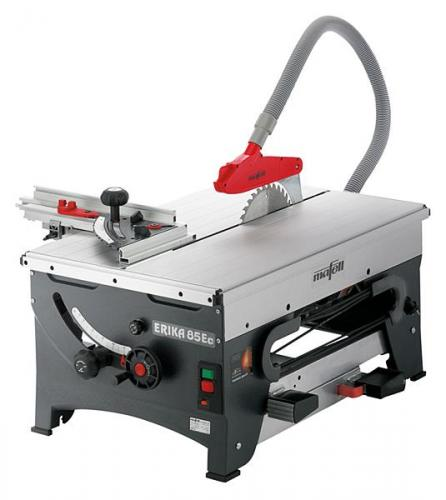 Mafell - Pull-Push Saw ERIKA 85 Ec with sliding table and fence guide extension with drop stop and clamping