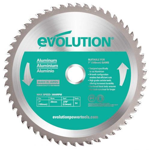 Pyörösahanterä-alum., kovamet  180mm Z54 EVOLUTION