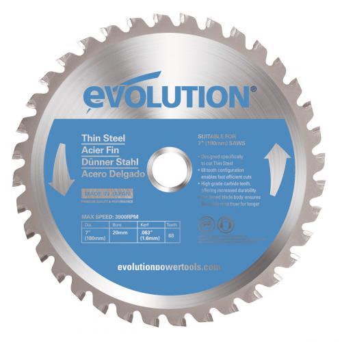 Pyörösahanterä-Inox, kovamet  180mm Z48 EVOLUTION