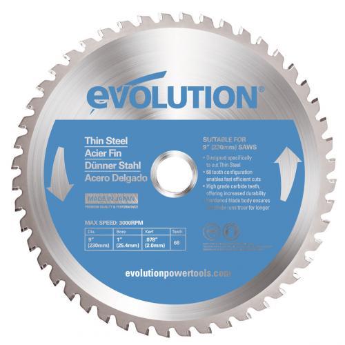 Pyörösahanterä-Inox, kovamet  230mm Z60 EVOLUTION