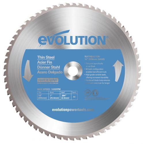Pyörösahanterä-Inox, kovamet  355mm Z90 EVOLUTION