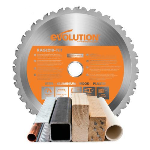 Pyörösahanterä-monikäyttö, RAGE  210mm Z24  EVOLUTION