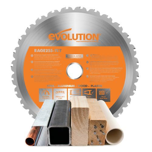 Pyörösahanterä-monikäyttö, RAGE  255mm Z28  EVOLUTION