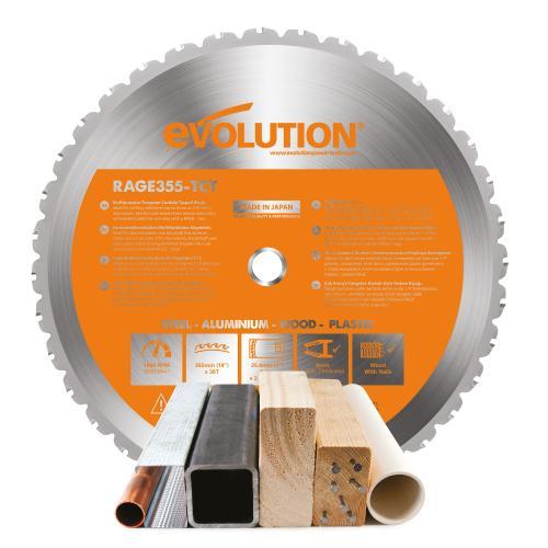 Pyörösahanterä-monikäyttö, RAGE  355mm Z36  EVOLUTION
