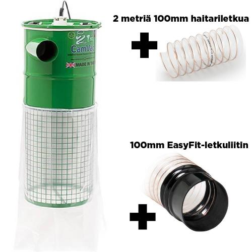Record - CamVac 150L 2000W Purunpoistoimuri + 2m 100mm haitariletkua + Easy-Fit-liitin