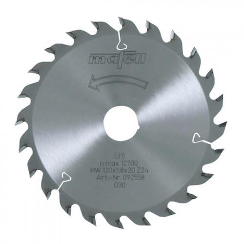 Mafell - TCT pyörösahanterä 120 x 1.2/1.8 x 20 mm / 40 flat/trapezoidal hampainen (sopii KSS, MF, KSP sahoille)