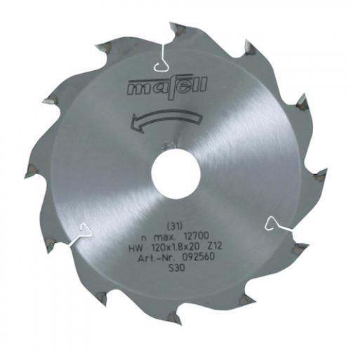 Mafell - TCT pyörösahanterä 120 x 1.2/1.8 x 20 mm / 12 alternating hampainen (sopii KSS, MF, KSP sahoille)