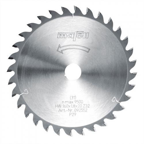 Mafell - TCT pyörösahanterä, 160 x 1.2/1.8 x 20 mm, 32 hampainen, AT (sopii PSS, MT, MS sahoille)