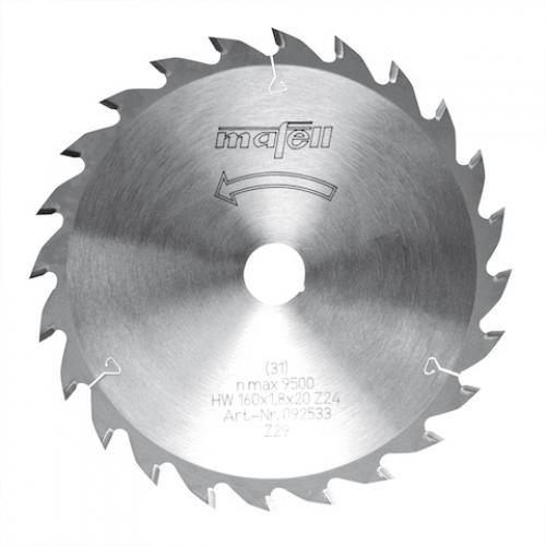 Mafell - TCT pyörösahanterä, 160 x 1.2/1.8 x 20 mm, 24 hampainen, AT (sopii PSS, MT, MS sahoille)
