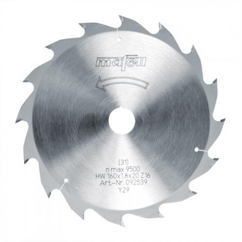 Mafell - TCT pyörösahanterä, 160 x 1.2/1.8 x 20 mm, 16 hampainen, AT (sopii PSS, MT, MS sahoille)