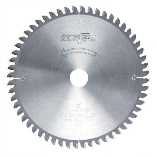 Mafell - TCT pyörösahanterä, 160 x 1.2/1.8 x 20 mm, 56 hampainen, FT/TT (sopii PSS3100, MT55 sahoille)