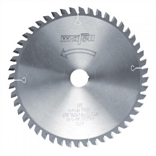 Mafell - TCT pyörösahanterä, 160 x 1.2/1.8 x 20 mm, 48 hampainen, FT/TT (sopii PSS3100, MT55 sahoille)
