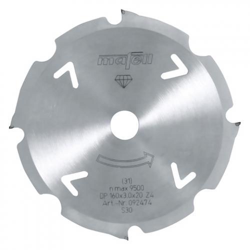 Mafell - Pyörösahanterä Timanttikärjillä, 160 x 2.4/3.0 x 20 mm, 4 hampainen, FT/TT (sopii PSS3100 sahalle)