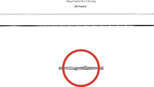 Niqua - Twister - Vastahampaallinen konelehtisahan terä 130mm, spiraali - No. 3 - 12kpl