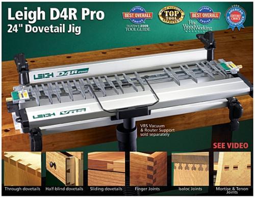 Leigh D4R Pro Dovetail Jig - Leigh-sinkkausjigien lippulaiva - metrinen