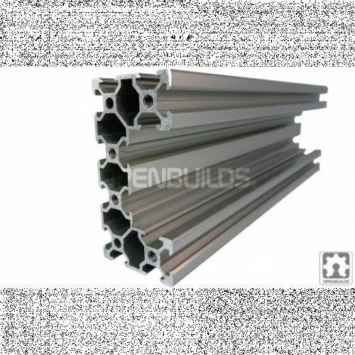 Alumiiniprofiili - C-profiili - kirkas anodisoitu - 80x40mm | 1500mm - C-Beam