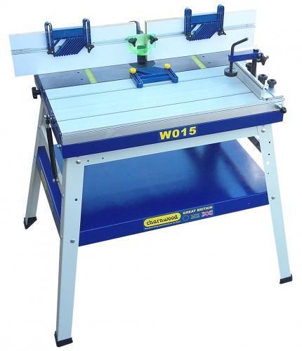 W015 - Valurautainen jyrsinpöytä jaloilla ja liukupöydällä