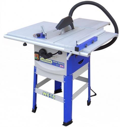 Charnwood - W616 250mm pöytäsaha jalustalla & sivupöydillä