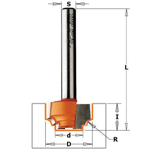 Paneelijyrsinterä (Ogee) HW S=6 D=12,7X12,7 -A-