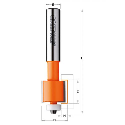 HW SOLID SURFACE INLAY ROUTER BIT S=12,7 D=22,2X6,35
