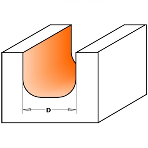 Kulho- ja rasiajyrsinterä HW S=6,35 D=11,1X12,7