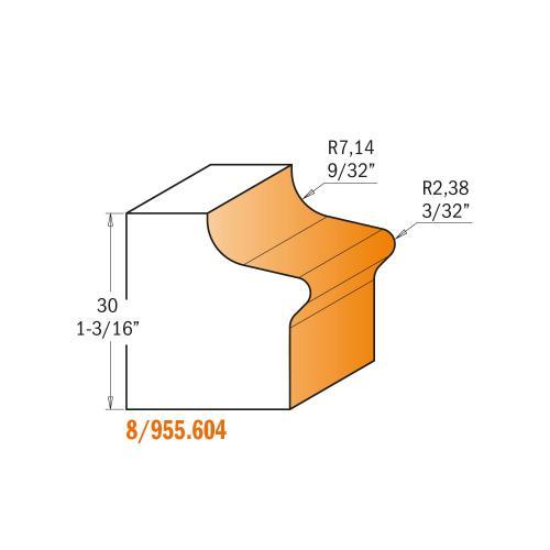 Vedinjyrsinterä (ura oven avaamiseksi) HW S=12,7 D=47,6X28,5